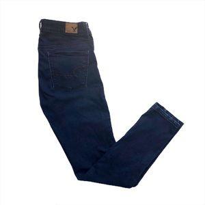 American Eagle Super Skinny Indigo Wash Jeans